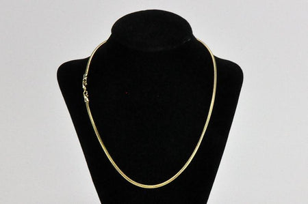 1mm 20'  Gold (EGP) Snake Chain Necklace