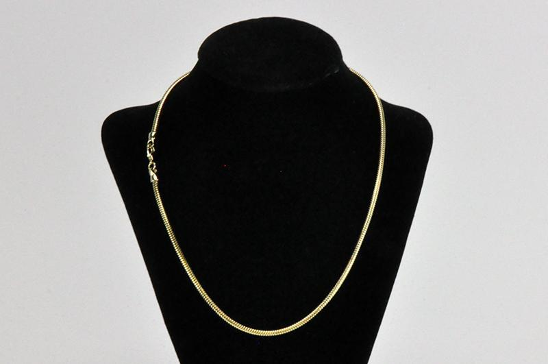 Necklace Gold SNAKE1 1mm 18 snake chain necklace Necklace SNAKE1-N/S18/G