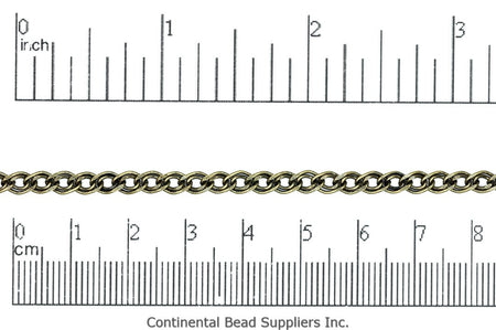 Curb Chain Antique Brass CH-883 Curb Chain CH-883AB