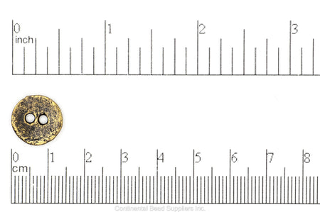 Button Antique Brass BTN14 14mm Round Pewter Button 14mm Round Pewter Button BTN14 | Wholesale Bead Supplier BTN14AB