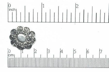 Button Antique Pewter BTN28 18.5mm Pewter Button 18.5mm Pewter Button BTN28 | Jewelry Supplier | Continental Bead BTN28AP