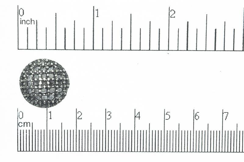 Button Antique Pewter BTN32 16.5mm Pewter Button 16.5mm Pewter Button BTN32 | Bulk Costume Jewelry  BTN32AP