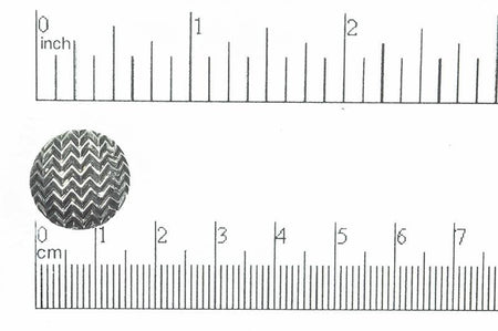 16mm Round Pewter Button BTN35 Antique Pewter
