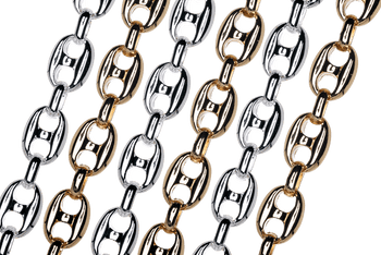 CH-941 Pignose Mariner Chain with 12.75mm x 10mm Casted Pewter Alloy Links