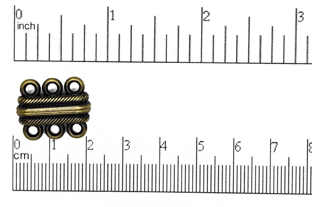 Magnetic Clasp Antique Brass CL/MC14 Magnetic Clasp CL/MC14AB