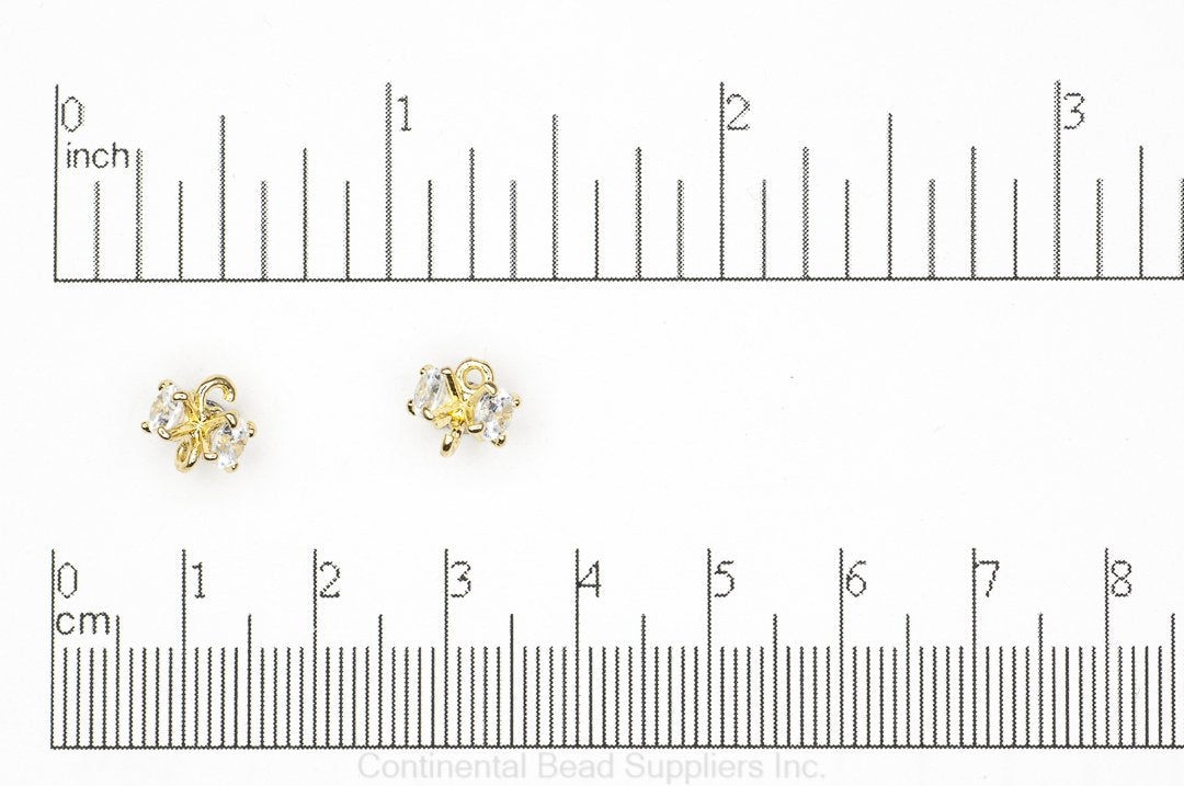 Connector Gold K112 Cubic Zirconia Link Connector K112G