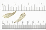 Charm Gold K131 Angel Bird Wing Charm K131G