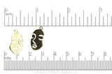 Woman's Face Charm K133 Gold