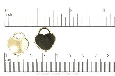 Charm K142 Stamp-able Heart Charm