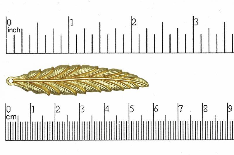 Charm Satin Hamilton Gold K49 Feather Charm K49SHG