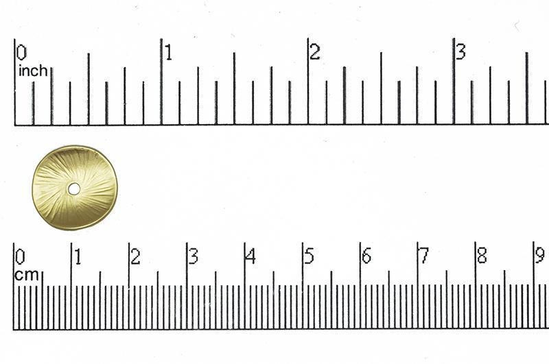 Connector Satin Hamilton Gold K51 Round Concave Coin Connector K51SHG