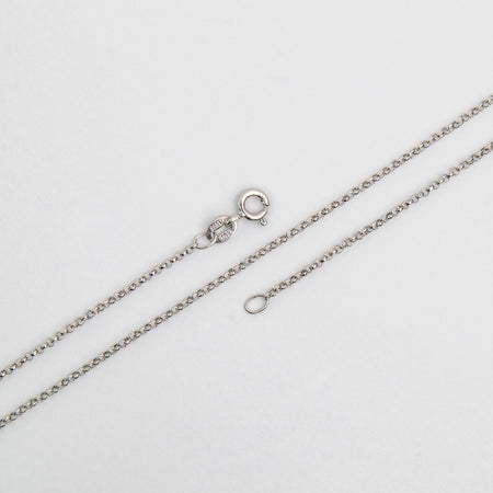 1.50mm Rolo Chain Sterling Silver Necklace With Spring Ring Clasp