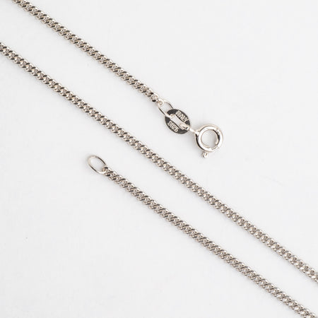 1.75mm Curb Chain Sterling Silver Necklace With Spring Ring Clasp