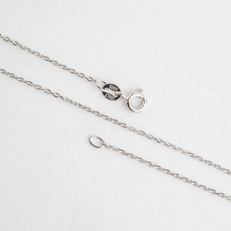 N8ST 1mm Cable Chain Sterling Silver Necklace With Spring Ring Clasp Available in 3 Sizes Made in Italy .925 Sterling Silver