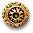 CBS2849 Bead Cap Antique Gold