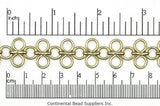 17mm Chain Maille Chain CH-7 Gold (EGP)