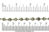 Specialty Chain Antique Brass CH-921 Delicate Rose Link Chain CH-921AB
