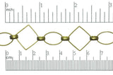 Large Diamond Link Chain CH-310 Antique Brass