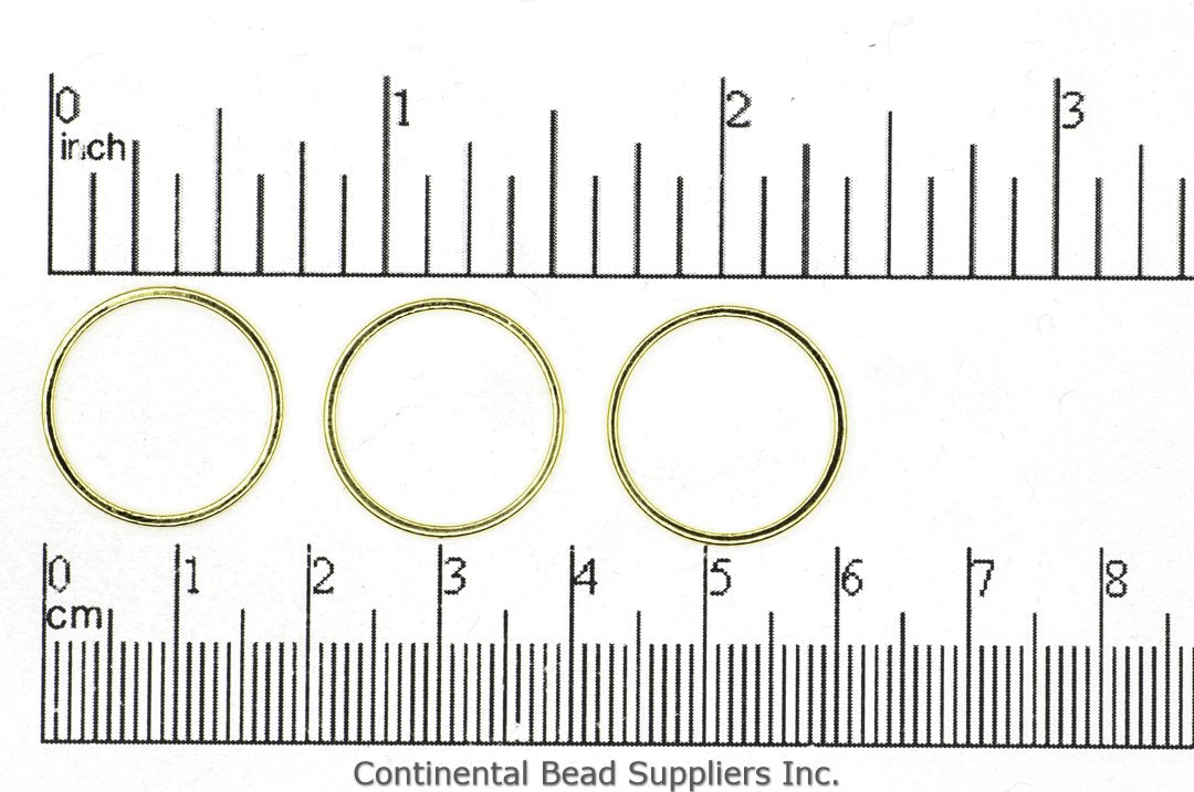 Closed Ring Gold CH-863 18mm Soldered Closed Ring Link CH-863/LINK