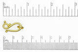 Hook & Eye Clasp Satin Hamilton Gold CL/HE1277 Hook & Eye Clasp CL/HE1277SHG