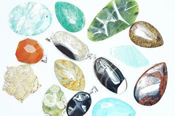 Semi Precious Pendant Assorted sp632 assorted semi precious pendants Semi Precious Pendant SP632