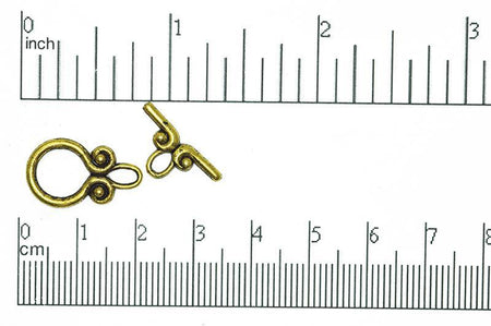 Toggle Clasp Antique Brass CBS112383 Pewter Toggle Available in Multiple Finishes CBS11/2383AB
