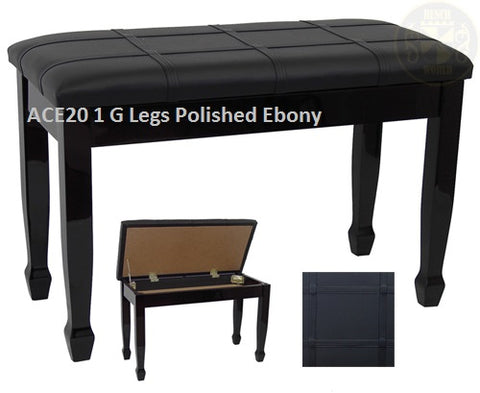 ACE 20 1 Fully Padded Top 'G Legs' (Spade) Polished Ebony or Unfinished Available