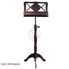 AMADEUS TRIPOD WOODEN MUSIC STAND (Satin Mahogany and Satin Walnut finishes)
