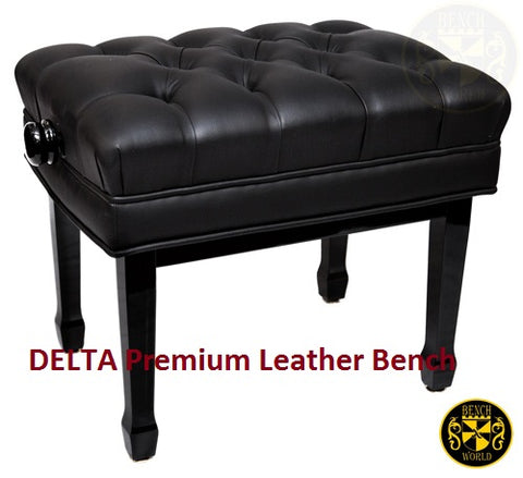 DELTA Premium Concert LEATHER Adjustable (Polished or Satin Ebony)