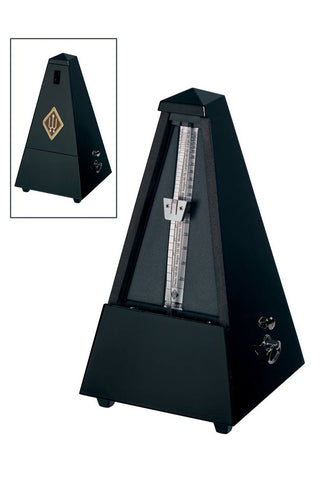 Wittner Polished Ebony Metronome w/Bell (Wood Casing) #816