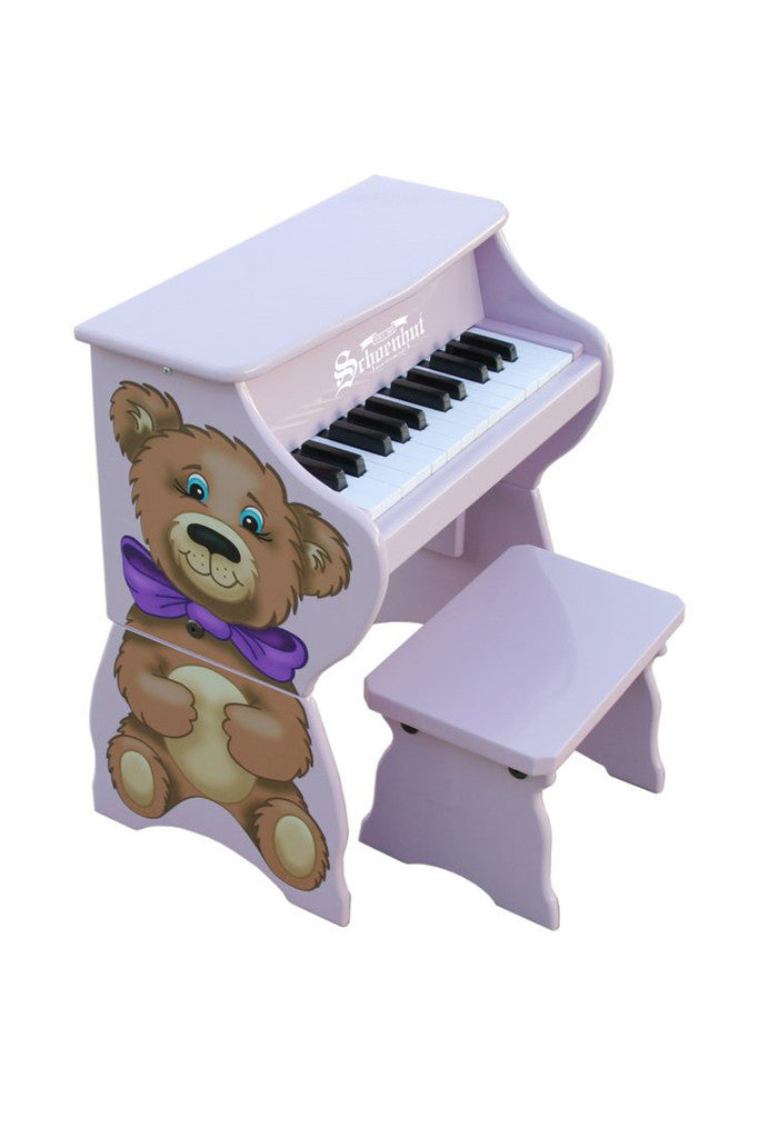 Schoenhut Toy Piano Piano Pals Purple with Bear