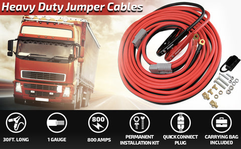 ENB130 Energizer jumper booster cables showing truck installation