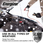 Energizer 4 Gauge Jumper Battery Cables 16 Ft Booster Jump Start - Heavy Duty Booster Cables, UL Listed