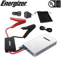 Energizer Heavy Duty Jump Starter 7500mAh with Built-In UL Lithium battery - Portable Car Jumper and 2.4A Power Bank USB Charger (White) - Jump-Starters.com roadside assistance store