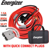 ENB130 Energizer 1 Gauge 30' Kit - Permanently Install these Jumper Cables with Quick Connect - 30 Ft Allows You to Boost a Battery from Behind a Vehicle - Jump-Starters.com roadside assistance store