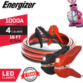ENL416 Energizer Flash Light LED 4 Gauge 16 Feet - Heavy Duty LED Battery jumper Cables