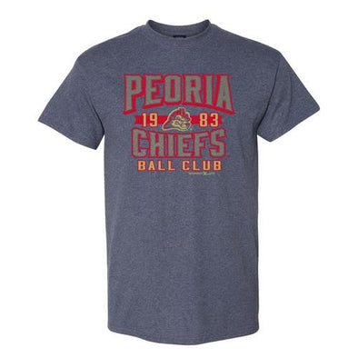 Peoria Chiefs Retro Heather Navy