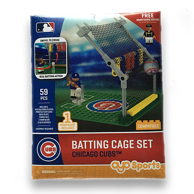 OYO Chicago Cubs Batting Cage Toy Set