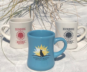 Anniversary & Classic Logo Mugs~ Blue Mug, OR Tan Mug with Red or Black Logo