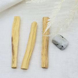 palo santo smudge stick with moonstone