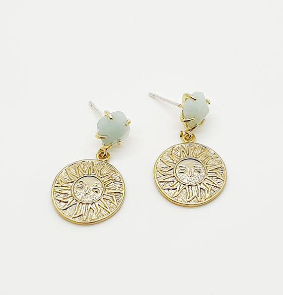Amazonite Sun Earrings
