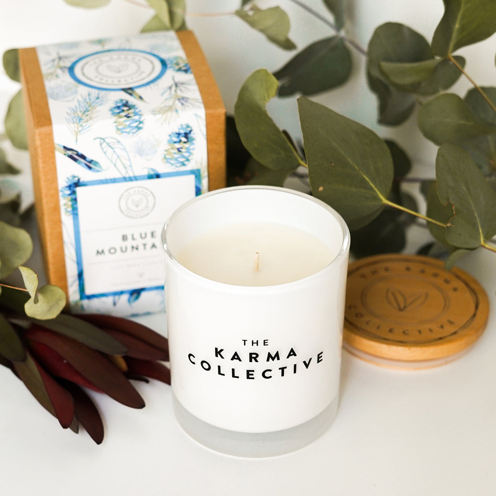 blue mountains soy candle