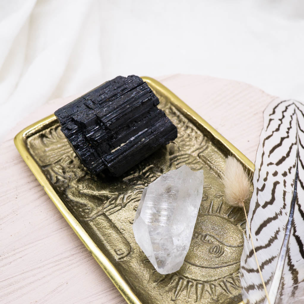 Black Tourmaline and Quartz