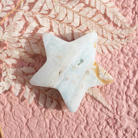 Caribbean Calcite Star and Heart