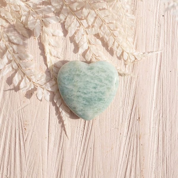 Amazonite and Peach Moonstone Hearts