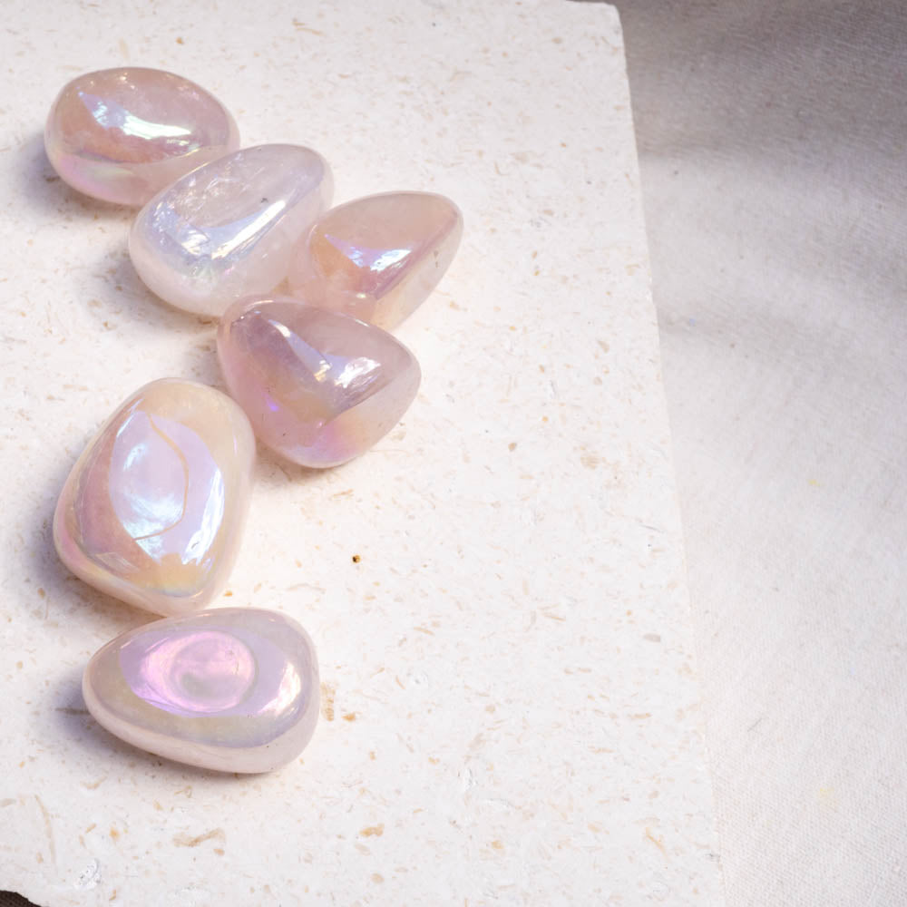 Rose Aura Quartz Gemstone