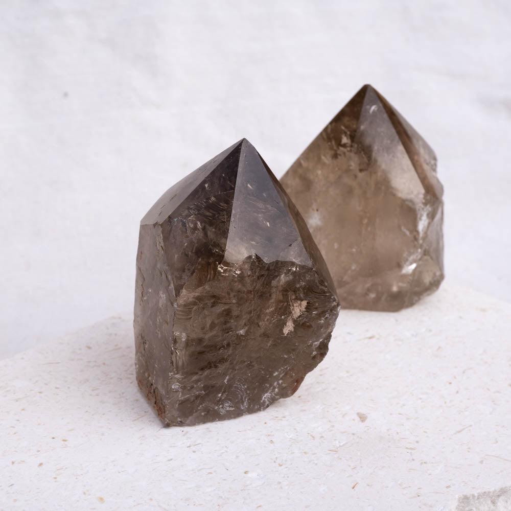 Smoky Quartz Top Polished Natural Point