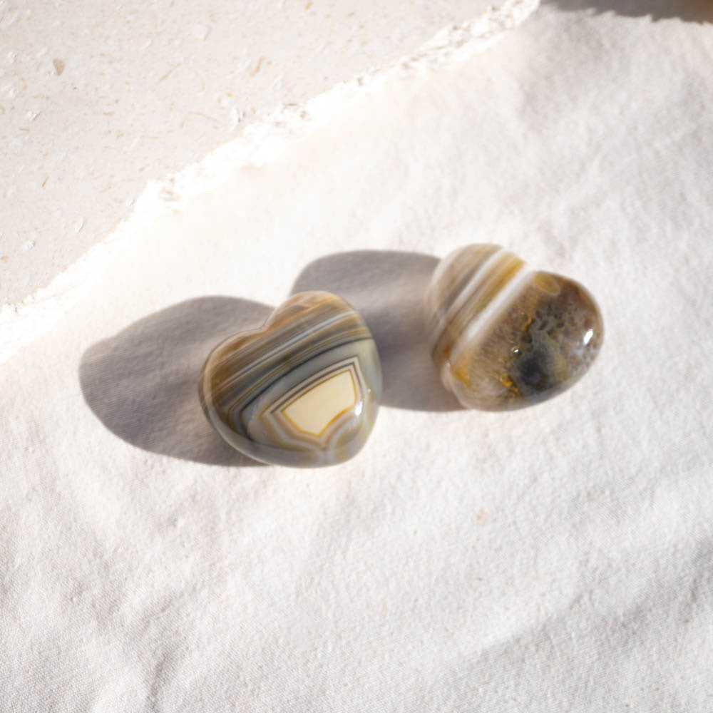 Natural Agate Heart Crystal