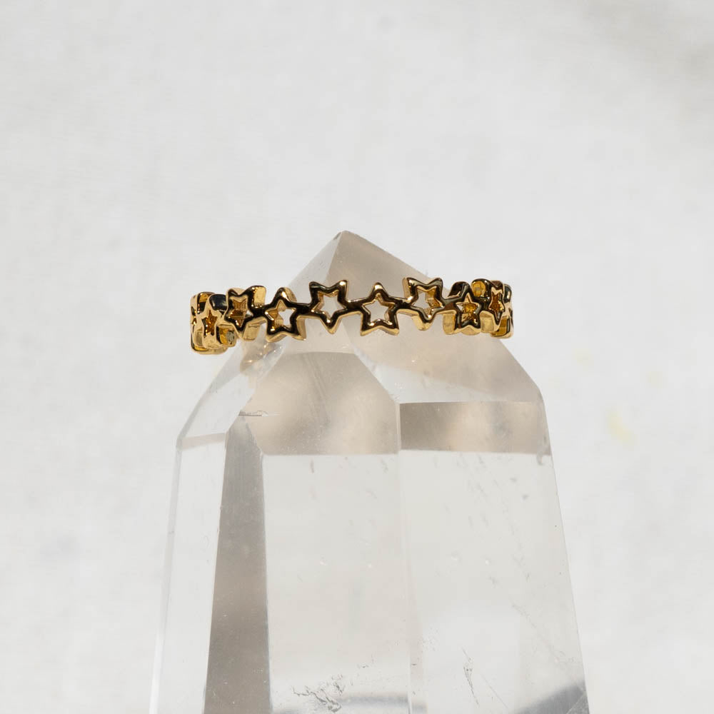 Stars Gold Plated Ring