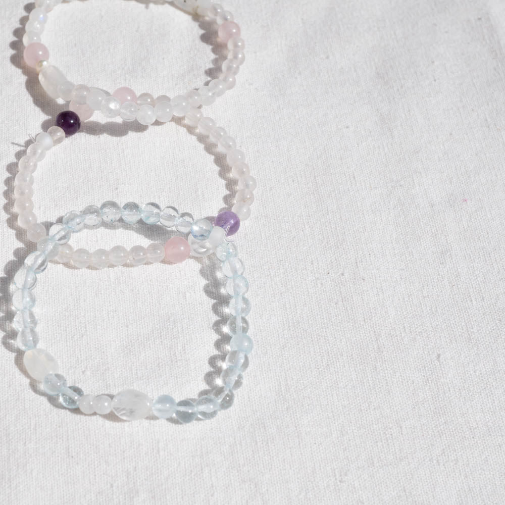 Aquamarine/Moonstone Bracelet | Peace